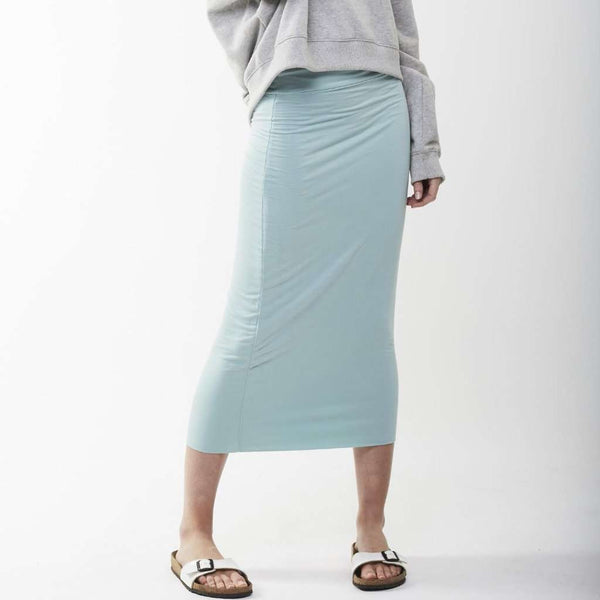 Long Midi Tube Skirt Seasonal Colors Mint Blue / Small Itsallagift