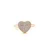 White Pave CZ Stone Heart Ring Itsallagift
