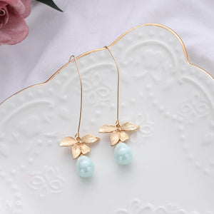 Orchid Green Drop Earrings