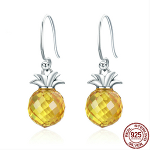 925 Hanging Pineapple Earrings
