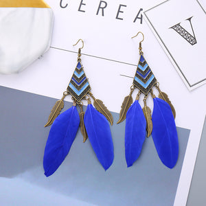 Angel Feather Bohemian Earrings