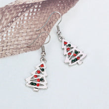 Load image into Gallery viewer, Christmas Tree Earrings