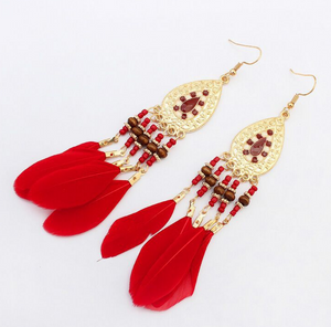 Feather Tassel Earrings