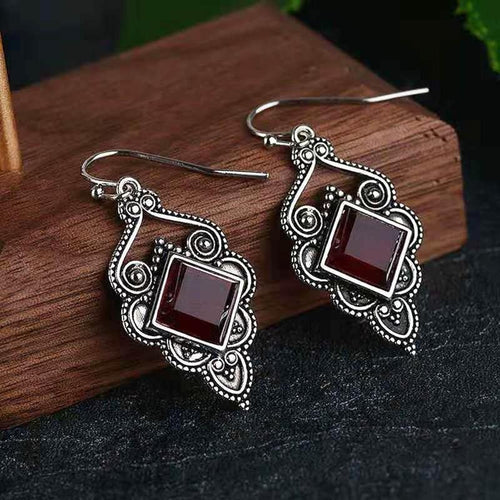 Vintage Tibetan Rouge Earrings