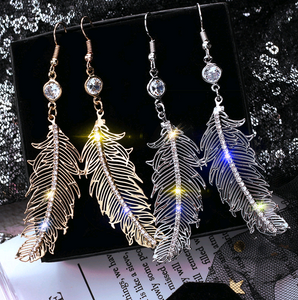 Angel Feather Drop Earrings