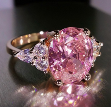 Load image into Gallery viewer, Pink Diamond Replica Princess Ring