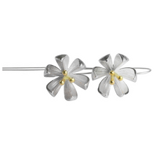 Load image into Gallery viewer, Brushed Lotus Earrings