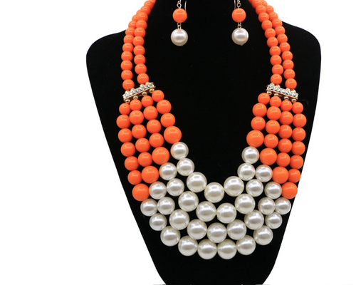 Simulated Pearl Bohemian Jewelry Set