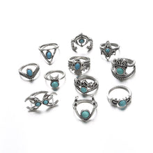 Load image into Gallery viewer, Turquoise Mystique Ring Set