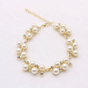 Replica Pearl and Diamond Bracelet
