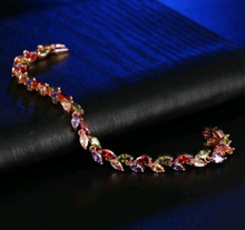Load image into Gallery viewer, Single Multicolor Leaf Bracelet