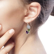 Load image into Gallery viewer, Moon Crystal Drop Earrings