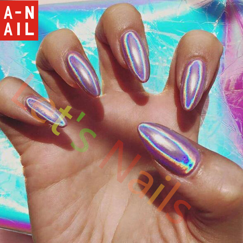 Holographic Powder Nails