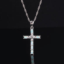 Load image into Gallery viewer, Bello Opal Cross Necklace