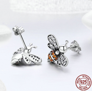 925 Sterling Bee Earrings