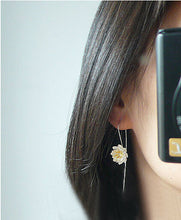 Load image into Gallery viewer, Lotus Drop Earrings