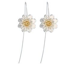 Load image into Gallery viewer, Long Flower Earrings