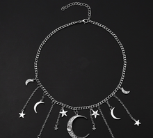 Load image into Gallery viewer, Star Moon Tassel Pendant