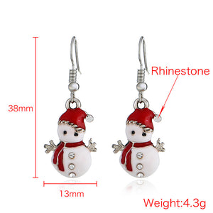 Hot Christmas Snowman Earrings