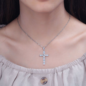 Bello Opal Cross Necklace