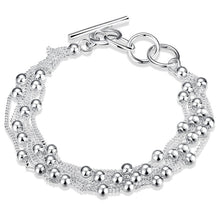 Load image into Gallery viewer, Tibetan Silver Ball and Chain Bracelet