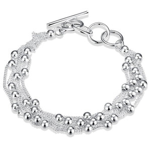 Tibetan Silver Ball and Chain Bracelet