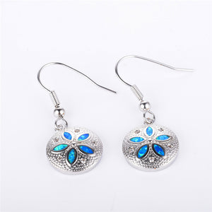 S925 Silver Dollar Earrings