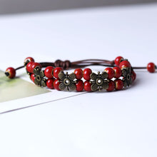 Load image into Gallery viewer, Handmade Lucky Four Leaf Bracelet