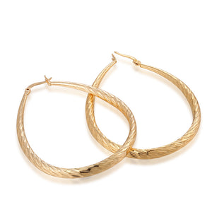 Frosted Hoop Earrings