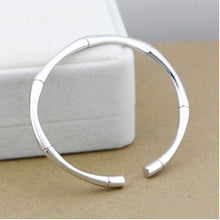 Load image into Gallery viewer, Silver Bamboo Bangles