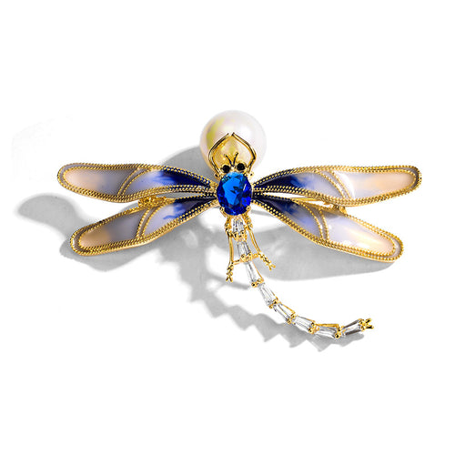 Dripping Dragonfly Brooch