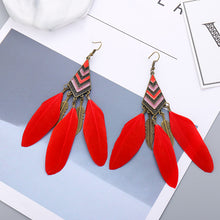Load image into Gallery viewer, Angel Feather Bohemian Earrings
