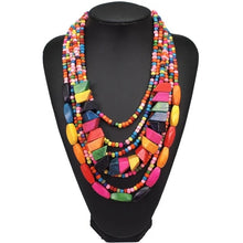 Load image into Gallery viewer, Bohemian Carribean Bead Necklace