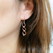 Load image into Gallery viewer, Triple Twist Drop Earrings