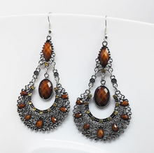 Load image into Gallery viewer, Bohemian Droplet Earrings