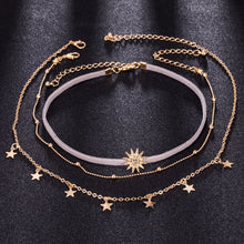 Load image into Gallery viewer, Boho Sun Star Choker