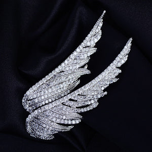 Pair of Angel Wings Brooch