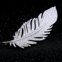 Load image into Gallery viewer, Angel Feather Crystal Brooch