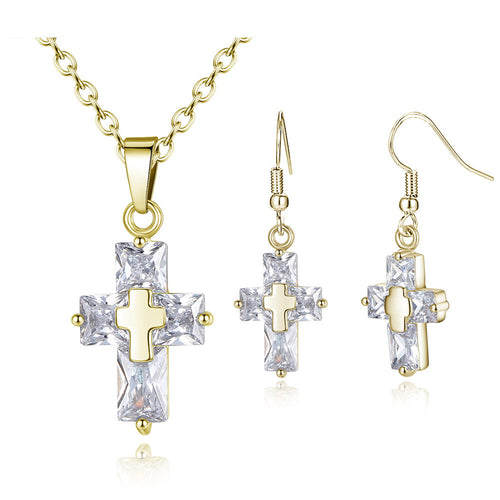 Crystal Cross Set