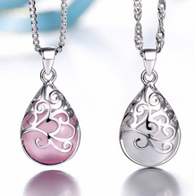 Load image into Gallery viewer, Moonlight Opal Silver Tears Necklace