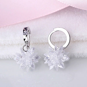 Hypoallergenic Frosted Star Earrings