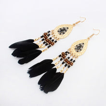 Load image into Gallery viewer, Feather Tassel Earrings