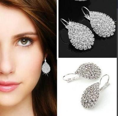 Replica Diamond Cluster Earrings