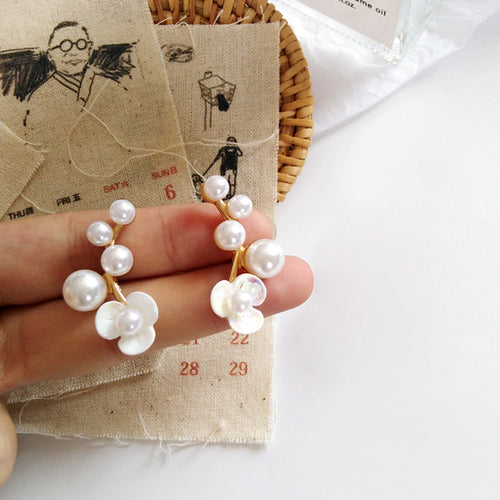 Flower of Pearl Earrings