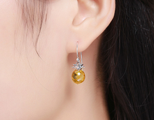 Load image into Gallery viewer, 925 Hanging Pineapple Earrings