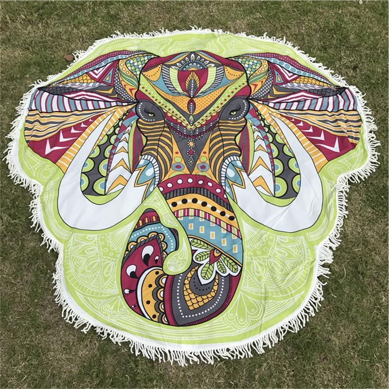 Elephant Mandala Rainbow Tapestry/Throw