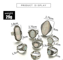 Load image into Gallery viewer, Tibetan Moonstone Ring Set