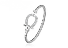 Load image into Gallery viewer, Lucky Horse Shoe Bangle