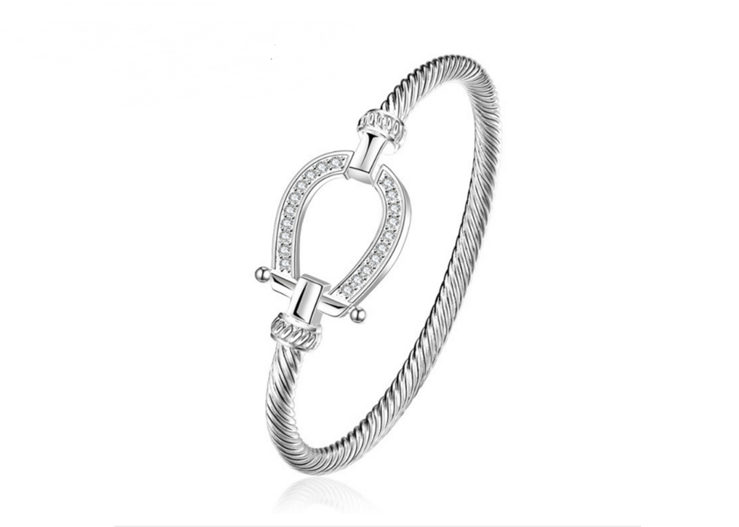 Lucky Horse Shoe Bangle