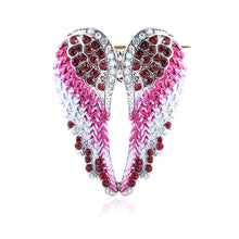 Load image into Gallery viewer, Crystal Angel Wings Brooch